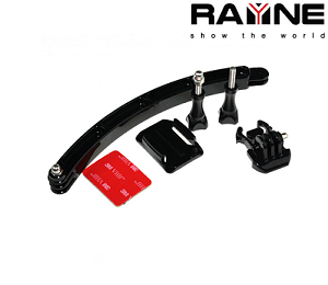 Rayne Helmet Mount Long Arm 360 degree lockable base
